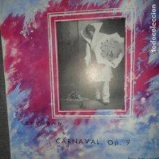 Discos de vinilo: CARNAVAL, OP. 9, SCHUMANN. Lote 109195831