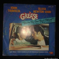 Discos de vinilo: JOHN TRAVOLTA & OLIVIA NEWTON-JOHN, GREÁSE / YOU'RE THE ONE THAT I WANT /ALONE AT A DRIVE-IN MOVIE. Lote 109198579