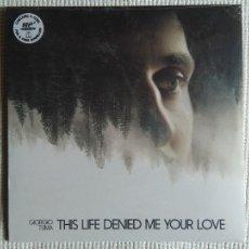 Discos de vinilo: GIORGIO TUMA - '' THIS LIFE DENIED ME YOUR LOVE '' LP WHITE VINYL SPAIN 2016 SEALED. Lote 109199019