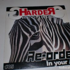 Discos de vinilo: HARDER RECORDS RE-ORDER IN YOUR ASS. Lote 109210923