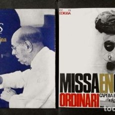 Discos de vinilo: ESCOLANIA DE MONTSERRAT - PAU CASALS (2 EPS NUEVOS) MISSA EN CATALA (ORDINARI) SALVE -I.SEGARRA MISA. Lote 109231995
