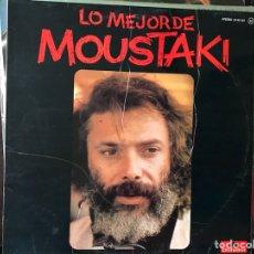 Discos de vinilo: LO MEJOR DE MOUSTAKI. Lote 109234199