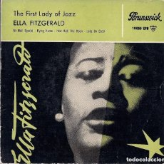 Discos de vinilo: ELLA FITZGERALD : THE FIRST LADY OF JAZZ - EP 4 TEMAS ORIGINAL ESPAÑA 1959 BRUNSWICK. Lote 109305951