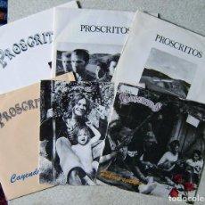Discos de vinilo: LOTE COLECCION DE 6 SINGLES DE PROSCRITOS...TODOS SUS SINGLES... ROCK ARAGON. Lote 109306103