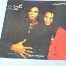 Discos de vinilo: MILLI VANILLI - ALL OR NOTHING LP 1988 SPAIN. Lote 109319763