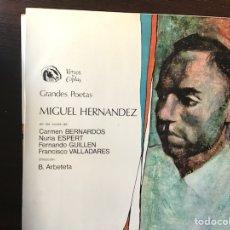 Discos de vinilo: MIGUEL HERNÁNDEZ. Lote 109323579