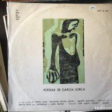 Discos de vinilo: POESÍAS DE GARCÍA LORCA. Lote 109327804