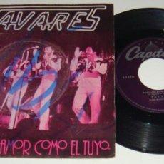 Discos de vinilo: SINGLE - TAVARES - NEVER HAD A LOVE LIKE THIS BEFORE / POSITIVE FORCES - TAVARES -NUNCA TUVE UN AMOR. Lote 109330807