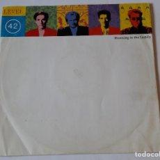 Discos de vinilo: LEVEL 42 - RUNNING IN THE FAMILY - 1987. Lote 109342019