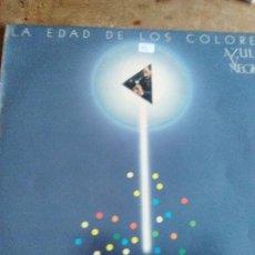 Discos de vinilo: LA EDAD DE LOS COLORES AZUL Y NEGRO. Lote 109355663