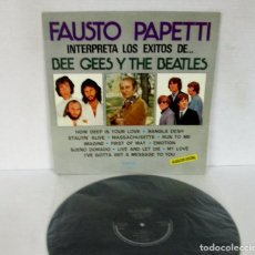 Discos de vinilo: FAUSTO PAPETTI INTERPRETA LOS EXITOS DE BEE GEES Y THE BEATLES - LP - I REMEMBER Nº3 SAX ALTO LEER. Lote 109356623