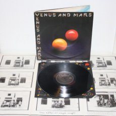 Discos de vinilo: PAUL MCCARTNEY & WINGS VENUS & MARS 1975 LP 1ST UK ORIGINAL W/POSTER BEATLES. Lote 109366231