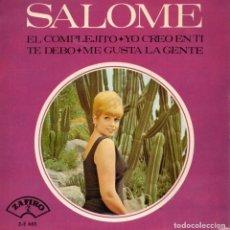 Disques de vinyle: SALOME, EP, EL COMPLEJITO + 3, AÑO 1965. Lote 109372487