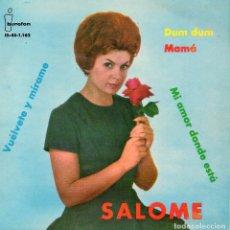 Discos de vinilo: SALOME, EP, DUM DUM + 3, AÑO 1962. Lote 109373103