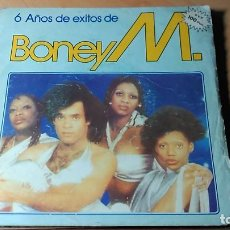 Discos de vinilo: CARATULA BONEY M - 6 AÑOS DE EXITOS - RIVERS OF BABYLON. Lote 109395143
