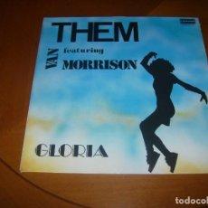 Discos de vinilo: LP : THEM : GLORIA : ED SPAIN 1989 EX. Lote 109395427