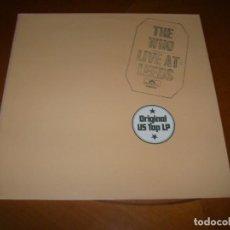 Discos de vinilo: LP : THE WHO : LIVE AT LEEDS : ED SPAIN 1990 EX. Lote 109395639