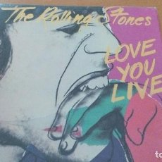 Discos de vinilo: THE ROLLING STONES LOVE YOU LIVE 2XLPS GATEFOLD. Lote 109397579