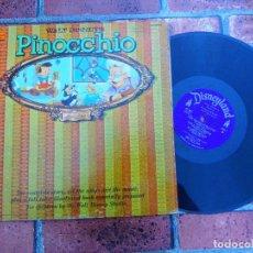 Discos de vinilo: WALT DISNEY'S STORY OF PINOCHO / LP ORIGINAL USA. Lote 109405795
