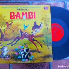 Discos de vinilo: WALT DISNEY'S / BAMBI / SONG AND STORIES / DISNEYLAND RECORDS ORIGINAL USA 1969. Lote 109406679