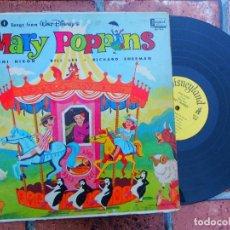 Discos de vinilo: WALT DISNEY'S / MARY POPPINS / DISNEYLAND RECORDS ORIGINAL USA 1964. Lote 109406975