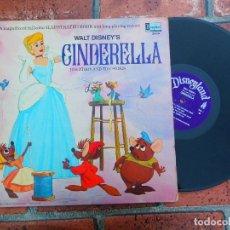 Discos de vinilo: WALT DISNEY'S / CENICIENTA CINDERELLA / SONG AND STORIES / DISNEYLAND RECORDS ORIGINAL USA 1969. Lote 109407563