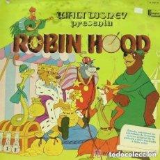 Discos de vinilo: WALT DISNEY. ROBIN HOOD. DISCO LP + CUENTO. DISNEYLAND 1974. Lote 109408851