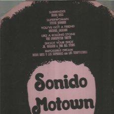 Discos de vinilo: SONIDO MOTOWN LP PORTADA TROQUELADA SELLO TAMLA MOTOWN EDITADO EN MEXICO...... . Lote 109410579