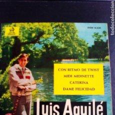 Discos de vinilo: LUIS AGUILE.. CON RITMO DE TUWIST. VINILO EP EDITA ODEON 1963. Lote 109411882