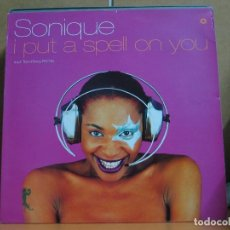 Discos de vinilo: SONIQUE - I PUT A SPELL ON YOU (4 VERSIONES) - JIVE RTD 103.2093.0 - 1998 - EDICION ALEMANA. Lote 109413299