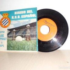 Discos de vinilo: JOSE GUARDIOLA -HIMNO DEL R,C,D.ESPAÑOL.OLYMPO-1974-SPAIN . Lote 109430327
