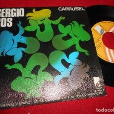 Discos de vinilo: SERGIO ROS CARRUSEL/LAGRIMAS DEL CIELO 7'' SINGLE 1976 BEVERLY RECORDS. Lote 109434463