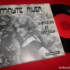 Discos de vinilo: MAYTE RIVER&NINO SANCHEZ CAMPESINOS DE CASTILLA/QUITATE NIÑA 7'' SINGLE 1976 GATEFOLD ACROPOL. Lote 109435451