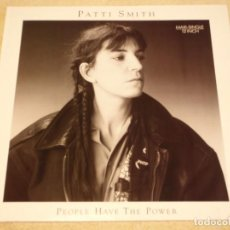 Discos de vinilo: PATTI SMITH ( PEOPLE HAVE THE POWER - WHERE DULY CALLS - WILD LEAVES ) 1988-GERMANY MAXI45 ARISTA. Lote 109435915