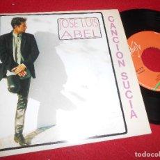 Discos de vinilo: JOSE LUIS ABEL CANCION SUCIA 7'' SINGLE 1992 VIRGIN PROMO DOBLE CARA. Lote 109436047