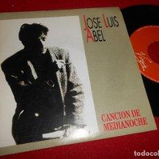 Discos de vinilo: JOSE LUIS ABEL CANCION DE MEDIANOCHE 7'' SINGLE 1991 VIRGIN PROMO DOBLE CARA. Lote 109436139