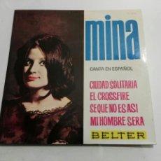 Discos de vinilo: MINA- EP CIUDAD SOLITARIA- BELTER 1964 ESPAÑA 6. Lote 109438892