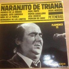 Discos de vinilo: LP NARANJITO DE TRIANA FLAMENCO 11 SARPE CON ENCARTES. Lote 109439647