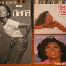 Discos de vinilo: DIANA ROSS LOTE 3XLP VINILO 1970S SOUL MOTOWN SUPREMES VINILO. Lote 109446003