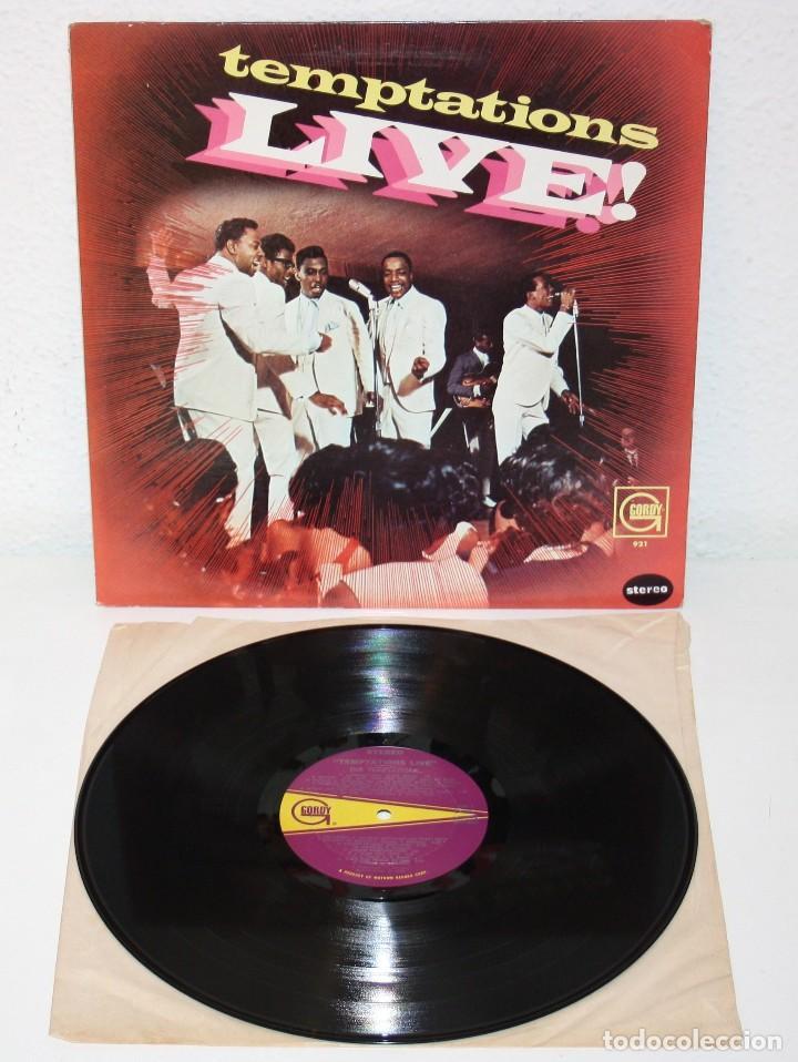 THE TEMPTATIONS LIVE! 1967 LP USA ORIGINAL GORDY S921 SOUL FUNK VINYL (Música - Discos - LP Vinilo - Funk, Soul y Black Music)