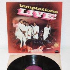 Discos de vinilo: THE TEMPTATIONS LIVE! 1967 LP USA ORIGINAL GORDY S921 SOUL FUNK VINYL. Lote 109446759