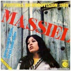 Discos de vinilo: MASSIEL - LA, LA, LA / PENSAMIENTOS, SENTIMIENTOS - SINGLE SPAIN 1968 . Lote 109451175
