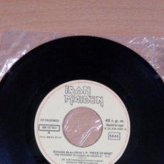 Discos de vinilo: IRON MAIDEN - THE TROOPER - CROSS-EYED MARY - SOLO VINILO -BUEN ESTADO - VER FOTOS . Lote 109463327