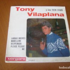Discos de vinilo: EP : TONY VILAPLANA Y SUS TEEN STARS : PLEASE PLEASE ME + 3. Lote 109464487