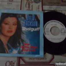 Discos de vinilo: DEE D.JACKSON / SHOTGUN / HOW DO YOU WANT YOUR LOVE (SINGLE PROMO 1982). Lote 109476031