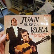 Discos de vinilo: JUAN EL DE LA VARA EP 4 CANCIONES PACO DE LUCÍA. Lote 109484708