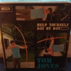 Discos de vinilo: TOM JONES ?– HELP YOURSELF / DAY BY DAY. Lote 109496263