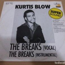 Discos de vinilo: KURTIS BLOW / THE BREAKS / MAXI-SINGLE 12 INCH. Lote 109497763
