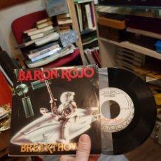 Discos de vinilo: SINGLE BARÓN ROJO BREAKTHOVEN COMO NUEVO. Lote 109535436