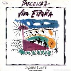 Discos de vinilo: JAMES LAST AND HIS ORCHESTRA - BARCELONA SINGLE PROMO 1992. Lote 109541739